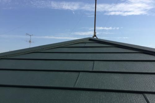 屋根をリフォームしました。