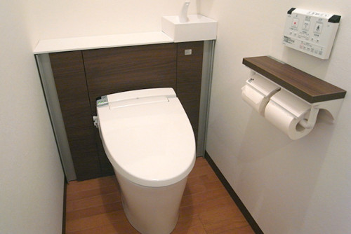 家のトイレが流れない・・・・。リフォームしないと。