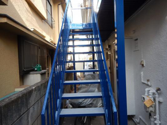 塗装 外壁塗装 階段塗装 階段リフォーム 中野区リフォーム